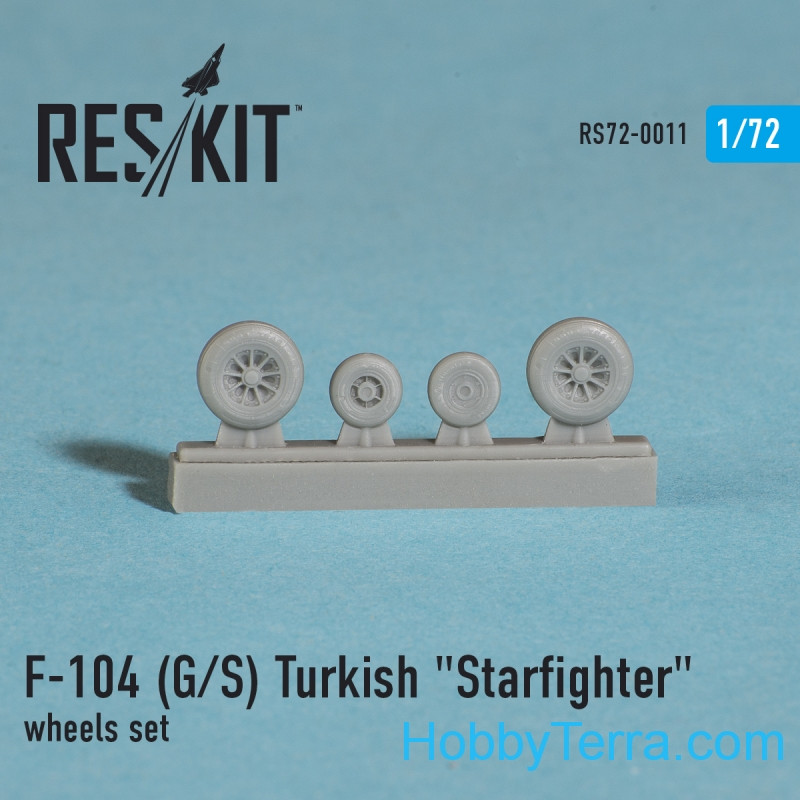 RESKIT  72-0011 Wheels set 1/72 for F-104 (G/S) Turkish Starfighter