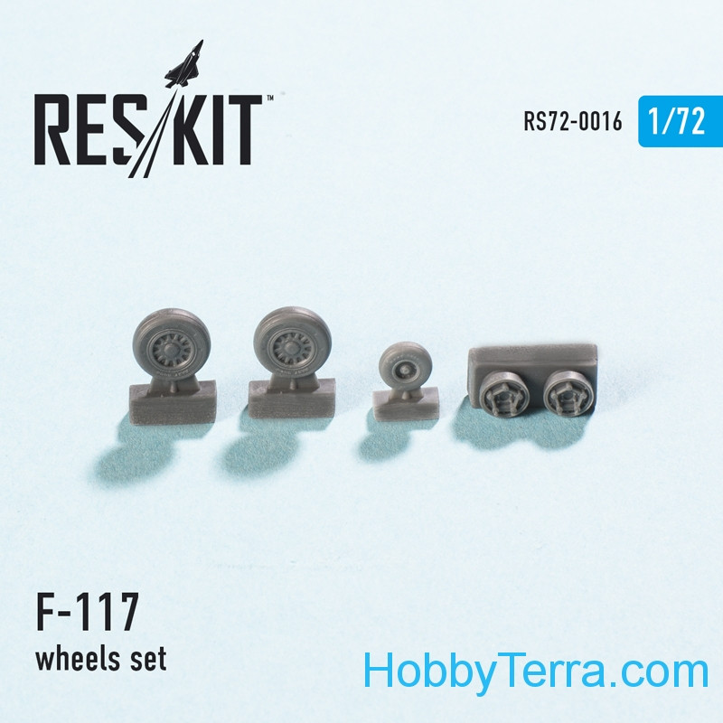 Wheels set 1/72 for F-117