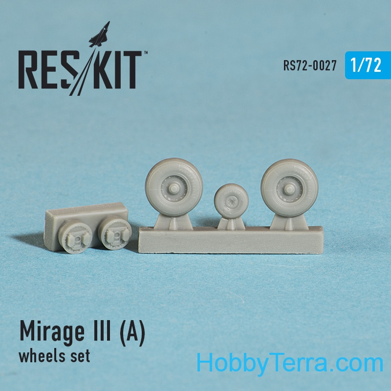 Wheels set 1/72 for Mirage III (A)