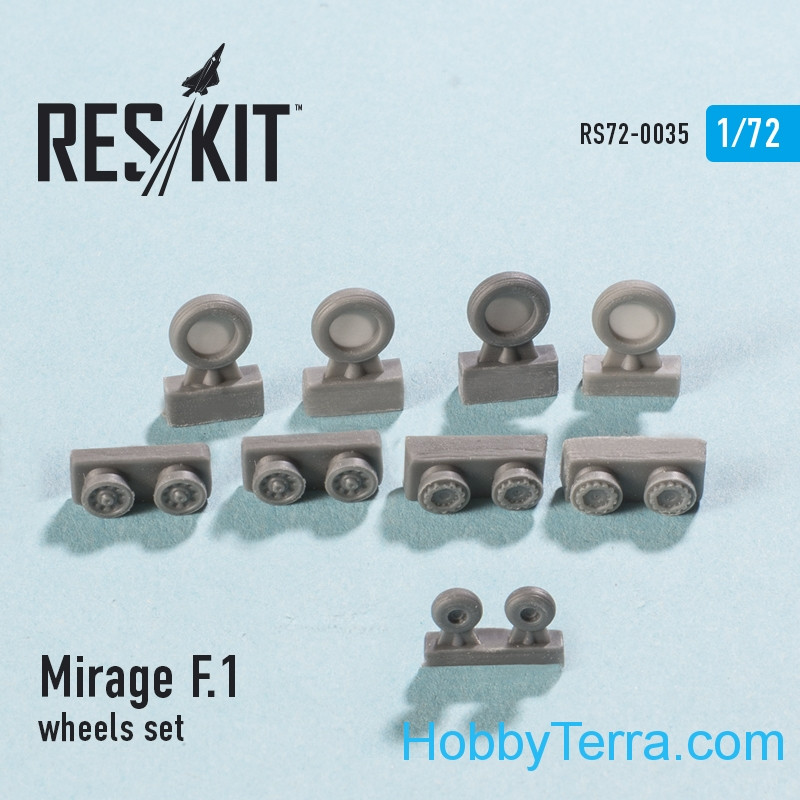 Wheels set 1/72 for Mirage F.1