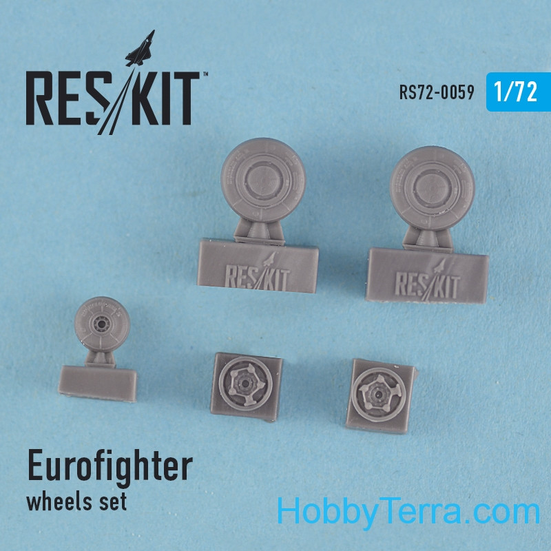 RESKIT  72-0059 Wheels set 1/72 for Eurofighter Typhoon, for HobbyBoss/Revell kit