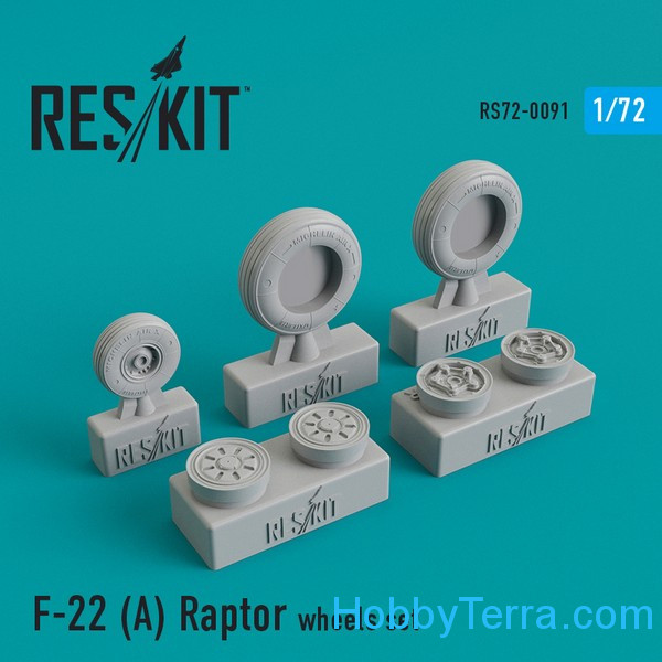"RESKIT  72-0091 Wheels set 1/72 for F-22A ""Raptor"""