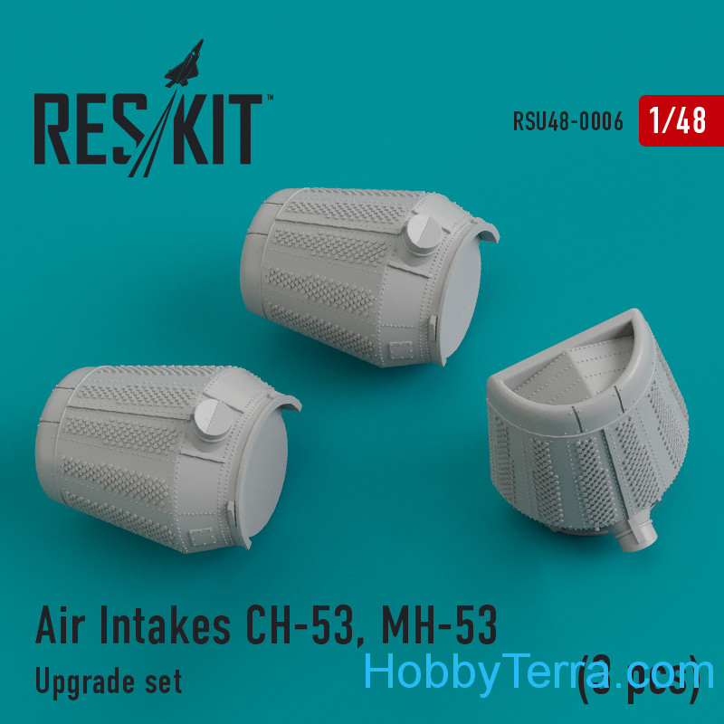 RESKIT  48-0006 Upgrade Set Air Intakes for CH-53, MH-53 (3 pcs)