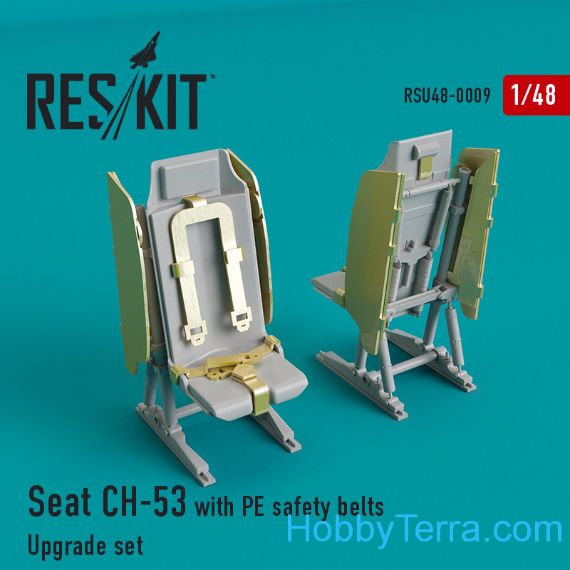 RESKIT  48-0009 Upgrade Set for CH-53 Seat with PE Safety Belts