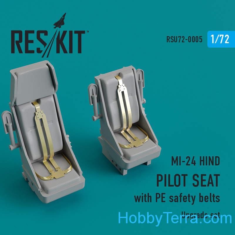 RESKIT  72-0005 Upgrade Set for MI-24 HIND Pilot Seat With PE Safety Belts