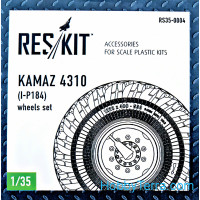 Wheels set 1/35 for Kamaz 4310 (I-P184)