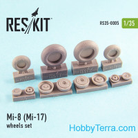 Wheels set 1/35 for Mi-8 (Mi-17), for Trumpeter kit