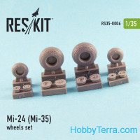 Wheels set 1/35 for Mi-24 (Mi-35), for Trumpeter kit