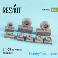 Wheels set 1/35 for UH-60 (all versions), for Academy/Italeri kit