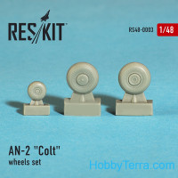 "Wheels set 1/48 for An-2 ""Colt"""