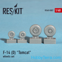 Wheels set 1/48 for F-14 (D) Tomcat
