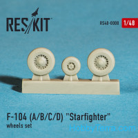 Wheels set 1/48 for F-104 (A/B/C/D) Starfighter