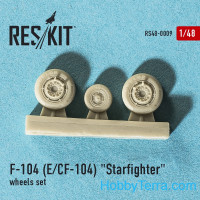 Wheels set 1/48 for F-104 (E) and CF-104 Starfighter