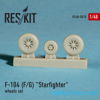 Wheels set 1/48 for F-104 (F/G) Starfighter