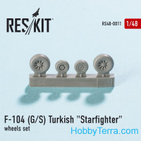 Wheels set 1/48 for F-104 (G/S) Turkish Starfighter