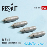Rocket Launcher B-8M1 (4 pcs) (1/48), for Eduard/HobbyBoss kit