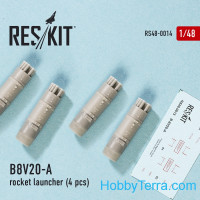Rocket Launcher B8V20-А (4 pcs) (1/48), for Italeri/HobbyBoss kit