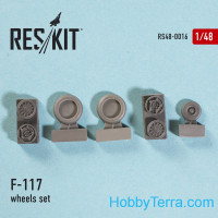Wheels set 1/48 for F-117