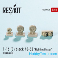 Wheels set 1/48 for F-16 (C) Block 40-52 Fighting Falcon