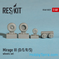 Wheels set 1/48 for Mirage III (D/E/R/S)