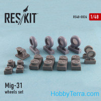 Wheels set 1/48 for Mig-31, for AMK/Trumpeter kit