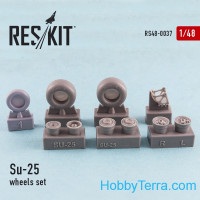 Wheels set 1/48 for Su-25, for KP/Smer kit