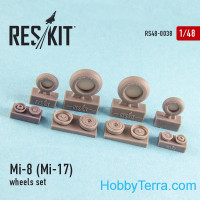 Wheels set for Mi-8 (Mi-17), for Top Gun kit