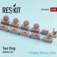 Wheels set 1/48 for Sea King (all versions), for Hasegawa/Revell kit