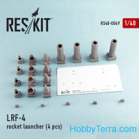 Rocket Launcher LRF-4 (4 pcs), for Airfix/Italeri kit