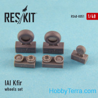 Wheels set 1/48 for IAI Kfir, for AMK kit
