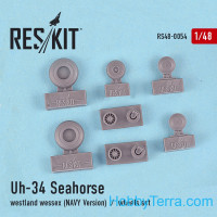 Wheels set 1/48 for Uh-34 Seahorse / Westland Wessex (NAVY versions)