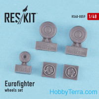 Wheels set 1/48 for Eurofighter Typhoon, for Italeri/Revell kit