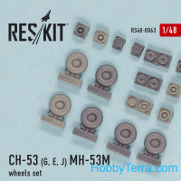 Wheels set 1/48 for CH-53G/E/J, MH-53M