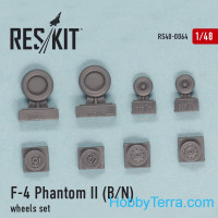 "Wheels set 1/48 for F-4B/N ""Phantom II"""