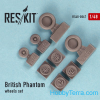Wheels set 1/48 for British Phantom
