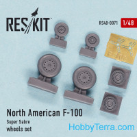 "Wheels set 1/48 for North American F-100 ""Super Sabre"""