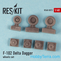 "Wheels set 1/48 for F-102 ""Delta Dagger"""