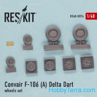"Wheels set 1/48 for Convair F-106A ""Delta Dart"""