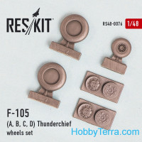 "Wheels set 1/48 for Republic F-105 (A, B, C, D) ""Thunderchief"""