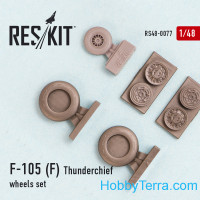 Wheels set 1/48 for Republic F-105 (F) Thunderchief