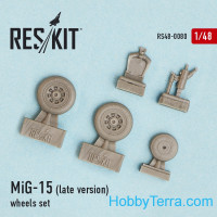Wheels set 1/48 for MiG-15 (late version)