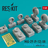 Wheels set 1/48 for Mikoyan MiG-29 (9-12) UB