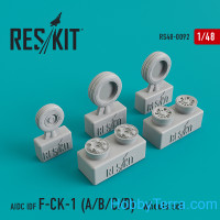 Wheels set 1/48 AIDC IDF F-CK-1 A/B/C/D
