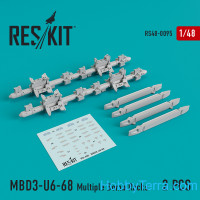 Multiple Bomb Racks MBD3-U6-68 set for (Su-17, Su-24, Su-30, Su-34, Su-35) (2 pcs)
