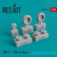 Wheels set 1/48 for Yak-1/Yak-3