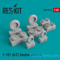 "Wheels set 1/48 for McDonnell F-101 (A/C) ""Voodoo"""