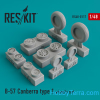 Wheels set 1/48 for B-57 Canberra (type 1)