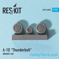 Wheels set 1/72 for A-10 Thunderbolt