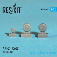 "Wheels set 1/72 for An-2 ""Colt"""