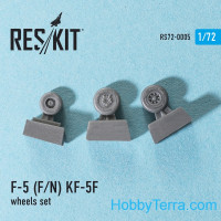 Wheels set 1/72 for F-5 (F/N) KF-5F